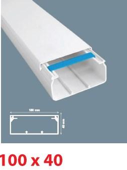 Instalační lišta PVC 100×40, délka 2 m