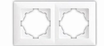Rámek dvojnásobný – Visage SIMPLE bílá