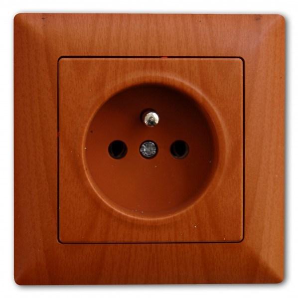Zásuvka 2P – Amazon dub