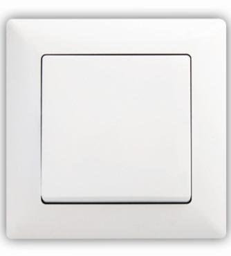 Vypínač č. 1 jednopólový bílý