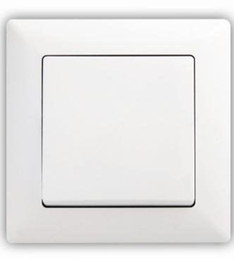 Vypínač č. 1 VISAGE simple bílá