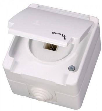 Telefonní zásuvka (RJ11) bílá Waterproof