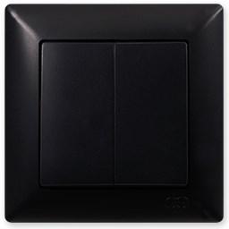 Sériový vypínač č. 5 černá Visage Ambience