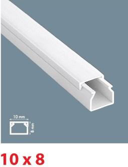Instalační lišta PVC 10×8, délka 2 m