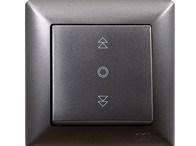 Tlačítko na ovládání žaluzií tmavě šedá Visage Ambience