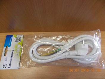 Flexo šňůra PVC 3x1,5mm 2m bílá