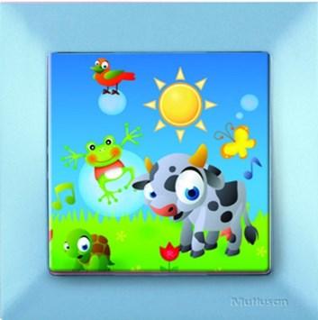 Dětský vypínač – kravička modrá