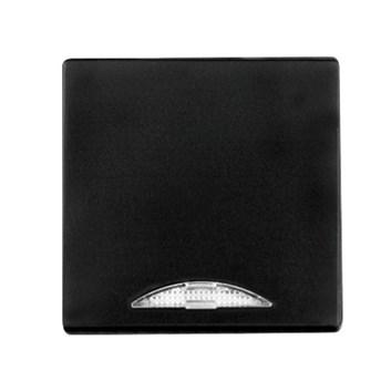 Kryt (černá) + strojek pro vypínač č. 1,6,7 s podsvícením Visage Deluxe