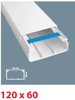 Instalační lišta PVC 120×60, délka 2 m