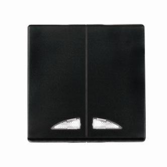 Kryt (černá) + strojek pro vypínač č. 5 s podsvícením  Visage Deluxe
