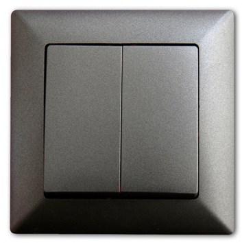 Vypínač č. 5 tmavě šedá Visage Ambience