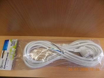 Prodlužovací přívod PVC 3x1,0 mm 5m bílá
