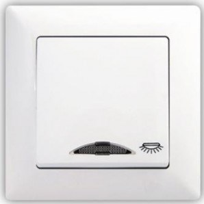 Tlačítko s piktogramem světla s kontrolkou