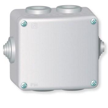 Rozvodná krabice 500V~ kovová na povrch 80×70 IP55 6 vývodek
