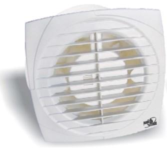 Koupelnový ventilátor A-120 hydro, časovač, zpětná klapka