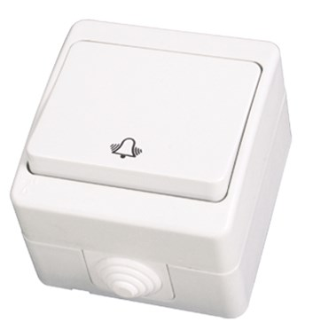 Zvonkové tlačítko bílá Waterproof