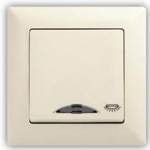 Tlačítko s piktogramem světlo s kontrolkou