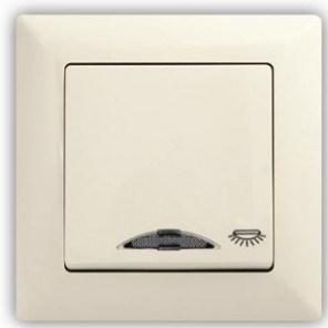 Tlačítko světlo s podsvícením VISAGE Ivory béžová