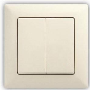 Dvojitý střídavý vypínač. 5B (6+6) – VISAGE Ivory