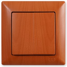 Dvojitý střídavý přepínač č. 5B (6+6) – Visage AMAZON dub