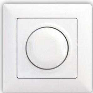 Stmívač 1000 W s podsvícením – VISAGE simple bílá