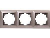 Trojrámek metalická béžová Visage Ambience