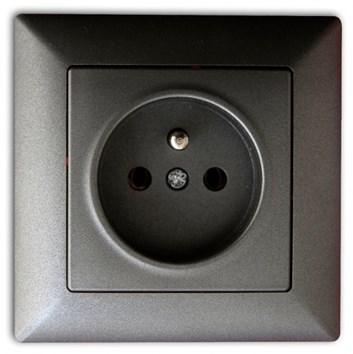 Zásuvka 2P tmavě šedá Visage Ambience