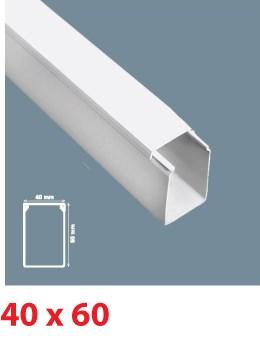 Instalační lišta PVC 40×60, délka 2 m