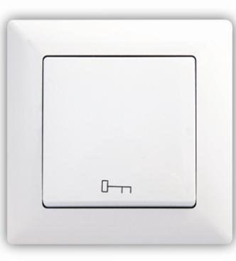 Tlačítko s piktogramem klíče – VISAGE simple bílá
