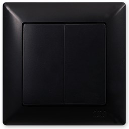 Vypínač č. 5B (6+6) černá Visage Ambience