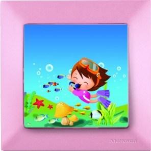 Dětský vypínač – potápěč růžová