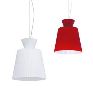 Svítidlo DIAMO 107 bílá/červená