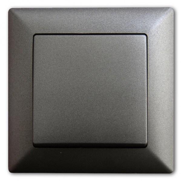 Vypínač č. 1 tmavě šedý v metalickém vzhledu