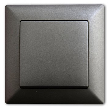 Vypínač č. 1 tmavě šedá Visage Ambience