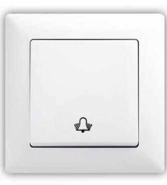 Zvonkové tlačítko – VISAGE simple bílá