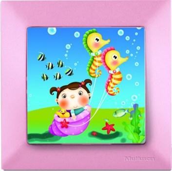 Dětský vypínač – mořský koník růžová