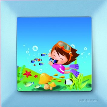 Dětský vypínač – potápěč modrá