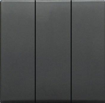 Kryt (černá) + strojek pro trojpólový vypínač Visage Deluxe