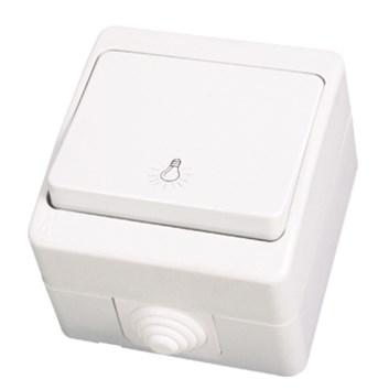 """Tlačítko """"světlo"""" bílá Waterproof"""