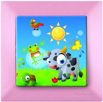Dětský vypínač – kravička růžová
