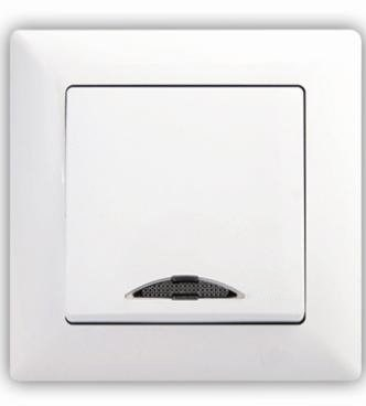 Schodišťový vypínač č. 6 s podsvícením – Visage SIMPLE bílá