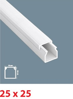 Instalační lišta PVC 25×25, délka 2 m