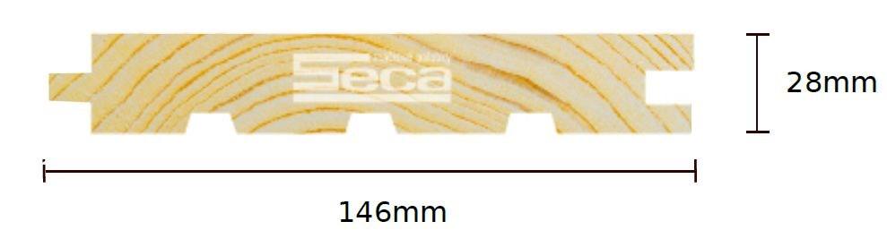 Palubka Smrk podl. 28 x 146 x 4m /313,10 Kč/m2/ bez DPH