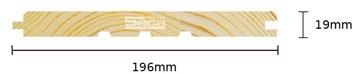 Palubka Smrk obkl. 19 x 196 x 5,1m C1 /295,-Kč/m2/ bez DPH