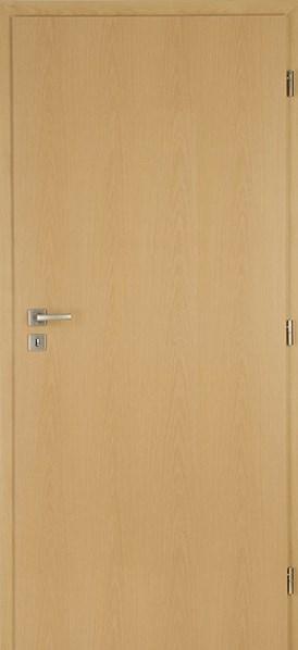 Protipožární dveře DUB plné levé / 125 cm