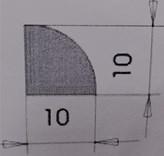 L K rohová vnitř. SM   10*10   2,5m /30 Kč/ks