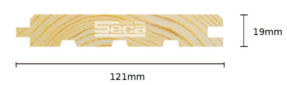 Palubka Smrk obkl. 19 x 121 x 4m /220,-Kč/m2/bez DPH