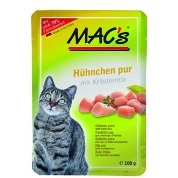 Kaps. MACs Cat KUŘE a BYLINKY 100 g