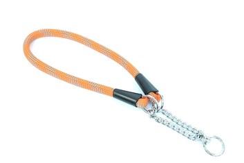 Aminela obojek lano - Serie G, velikost 14x55 cm, oranžová/šedá