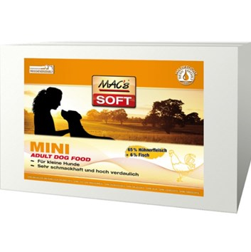"SOFT MACs Dog MINI KUŘE ""to go"" 230 g"